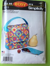 # Simplicity Sewing Pattern 1313 Craft Lunch Bag Snack Pack One Size New - $11.66