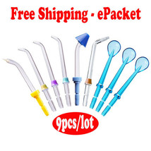 9Pcs Replacement Tips for Waterpik or other Water Flossers / Oral Irriga... - $10.50