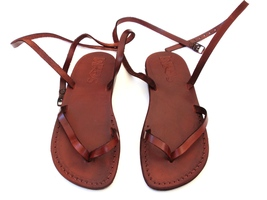 Leather Sandals for Women CLARA by SANDALIM Biblical Greek Roman Sandals - $39.44 CAD+