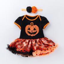 Halloween Pumpkin Short Sleeve Romper - $48.00