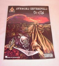 HAL LEONARD GUITAR TAB SONG BOOK AVENGED SEVENFOLD CITY OF EVIL - $19.79