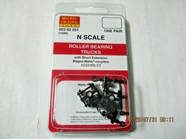 Micro-Trains Stock # 00302031 (1030) Roller Bearing Trucks Short Extension (N) image 4