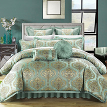 Luxury Comforter Set Queen Vintage 9 Piece Bed... - $305.99