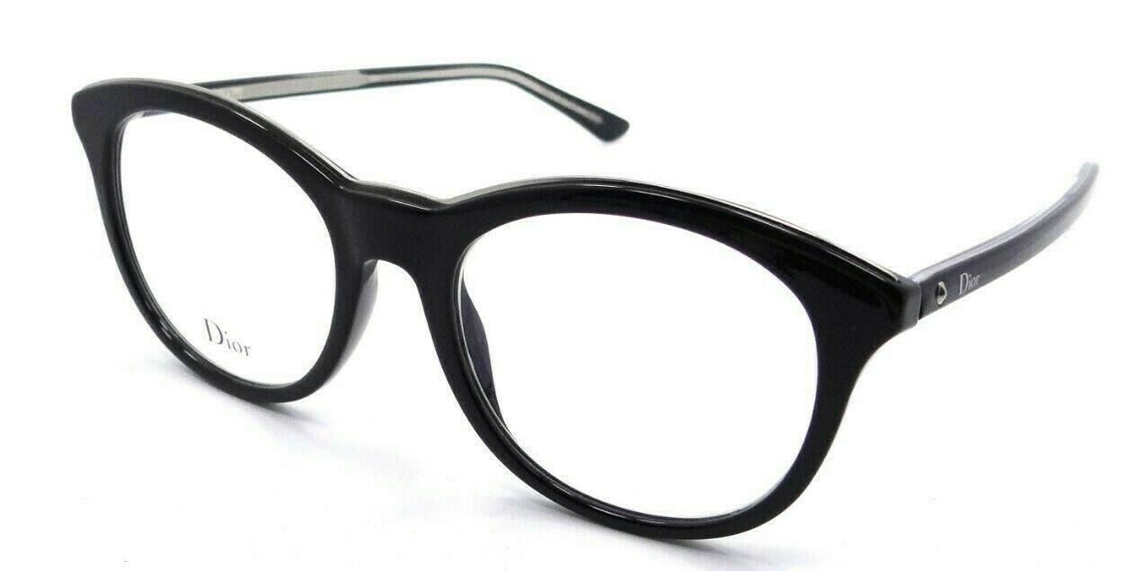 Christian Dior Eyeglasses Frames Montaigne 41 VSW 52-19-145 Black Crystal Italy - $196.00