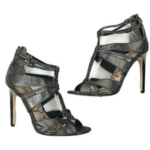 Sam Edelman PEPPER Women's Metallic Charcoal Leather Heel Shoes US Size 9 - $24.74