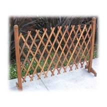Expanding Portable Fence Wooden Screen Gate Kid... - $61.68