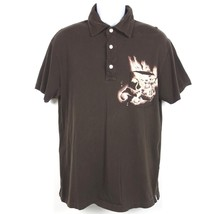Gap Pocket Polo Shirt Men's Large Brown Cotton Bleached Design Establish... - $12.99