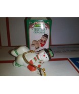 1995 Kwik Fill Traditions Ornament Frosty Fell Down Gas Station Christma... - $6.74