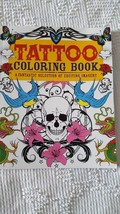 TATTOO ADULT COLORING BOOK DESIGNS, CHARTWELL BOOKS, 2013, 1 PG COLORED,... - $4.94