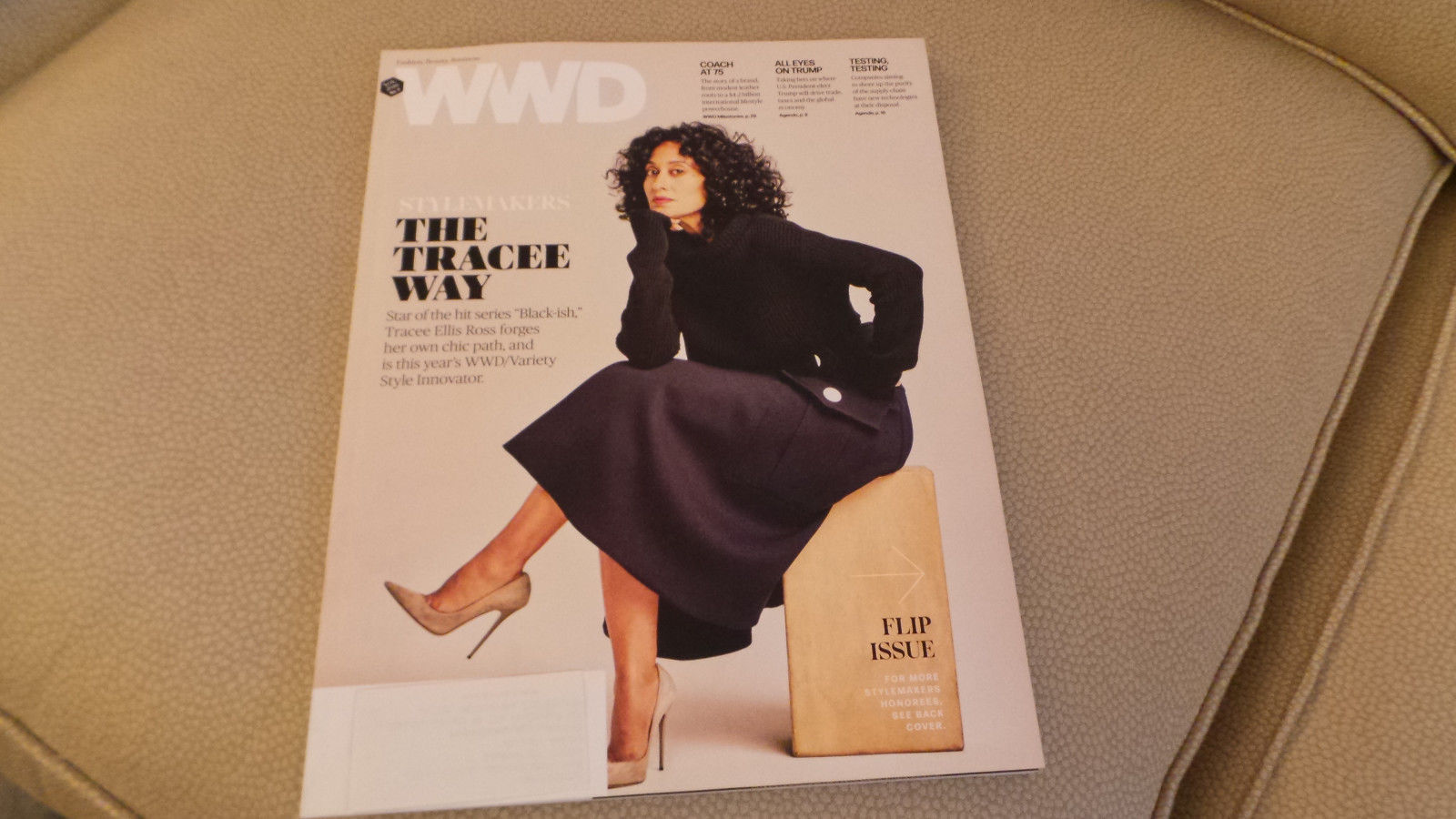 WWD Mag flip cover of Tracee Ellis Ross; Coach 75th Anniversary Nov 2016 #3 NF