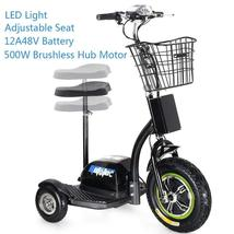 MotoTec Electric Trike 48v 500w Personal Transporter 3 Wheel Scooter up to 22MPH image 2