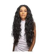 Style Plus Human Hair Blend Lace Front Wig Cross Part Lace Curly [Vixen ... - $54.55