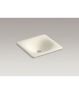 "Kohler K-2827-47 Iron/Tones 16 3/8"" x 15 5/8"" Rectangular Cast Iron Bath Sink - $33.66"