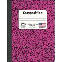 Norcom Composition Book Set of 6, College Ruled, 100 pages, 9.75 X 7.5 in. - $25.53