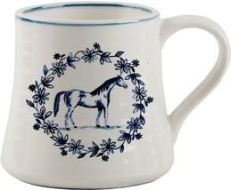 MOLLY HATCH VINTAGE FARM HORSE DESIGN MUG SET OF 2 BY HOME ESSENTIALS - $38.56