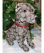 Coach Signature Stuffed Dog Jack Russell Terrier Toy JRT 8443 RedCollar #1 - $99.00