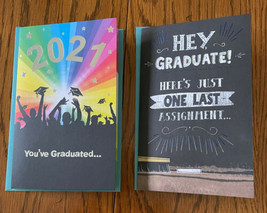 Lot Of 2 2021 Graduation Cards-Plays MUSIC!  1*FOOTLOOSE!!* - $7.91