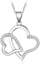Kalapure S925 Sterling Silver Diamond Swarovski Zirconia Twist Heart Pen... - $69.20