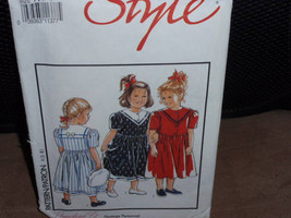 Style 1929 Children Dress with Collar  Size 3 - 8  New - Uncut - $8.00