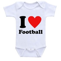 I love Football, Cute Gift Baby Bodysuit By Apparel USA™ - $16.95