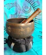 Tibetan 3 Inch Singing Bowl w/ Striker w Black Cushion Made of 7 Metals - $21.55