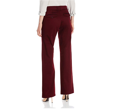 Lee Platinum Women's Madelyn Natural-Fit Trousers, Mulberry NWOT 8 Short image 2