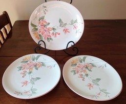 """3 (Three) Sango MAY TIME 11.75 x 10.5"""" Floral Oval Dinner Plates 217004 - $32.29"""