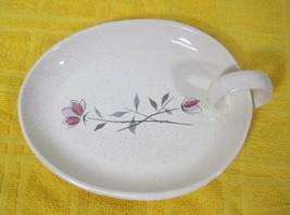 Franciscan Duet 1956-1961 Open Jam Plate Dish w Finger Hold Pink Rose De... - $29.69