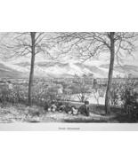 UTAH View of Salt Lake City - 1883 German Print - $16.20