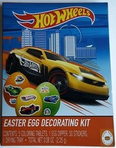 NEW Hot Wheels Easter Egg Decorating Kit And Stickers FREE WORLDWIDE SHI... - $7.91