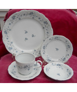 HAVILAND BLUE GARLAND TRADITIONS 20 PC DINNER SALAD PLATE FRUIT BOWL CUP... - $50.48