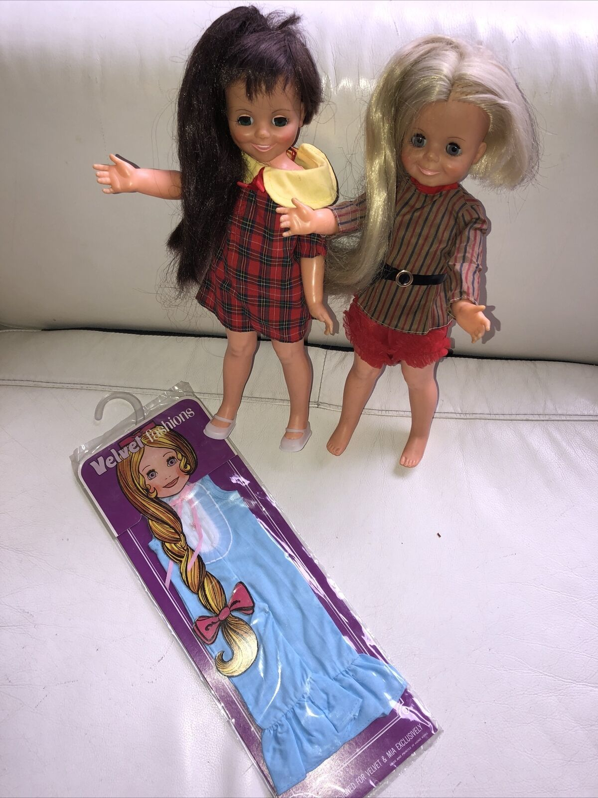Primary image for Vintage 1970's Ideal Velvet & Mia, Dolls MOC Clothes