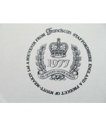 Franciscan The Queens Silver Jubilee 1977 Staffordshire England By Myott... - $28.42