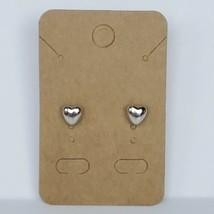 Silver Heart Stud Earrings Post Fashion Costume Jewelry - $9.99