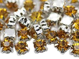 6mm SS30 Topaz Sew on Crystal Diamante Rhinestone Rose Montee Beads for ... - $11.87