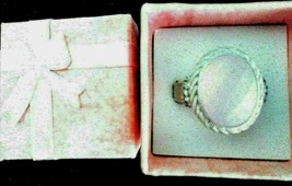 Judith Ripka Sterling Pink Mother of Pearl Doublet w DMQ Oval Ring ~ 8 R... - $149.95