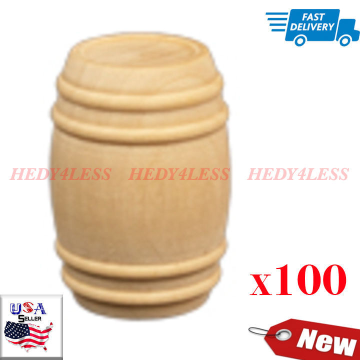Brand New PB0625-100 Wooden Pickle Barrels Bag of 100 **FAST SHIPPING**