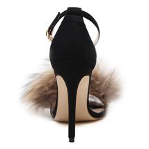 Heels IKAI High Shoes Faux Sexy Sandals Platform Sandals Summer Fur Women LALA 74pqFF