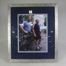 "Autograph Signed Photo President George W. Bush Frame 17""x15"" Army Veteran image 1"