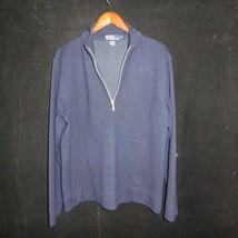 POLO RALPH LAUREN 1/2 Zip Wool Pullover Sweater w Front Pocket Large Nav... - $33.62