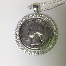 Vintage Rare Birth Year 1942 Washington Silver Coin 24in Sterling Chain ... - $37.95