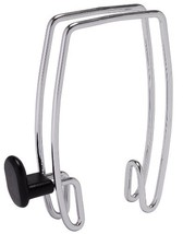 Alba Over-the-Panel Coat Hook, One-Sided, Chrome and Black PMHOOK1 - $12.95