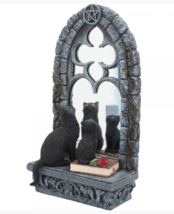 Familiar Reflection Black Cat Kitten Ornament Figurine / Statue - $94.04