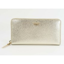 Kate Spade Cameron Street Gold Leather Large Zip Around Lacey Wallet NWT  - $148.01