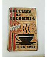 """12"""" Organic Coffees coffee bean of Colombia brew cafe travel USA metal A... - $29.69"""