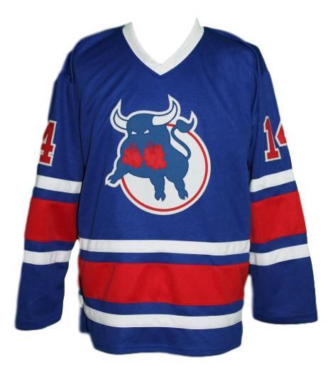 Durbano  14 custom birmingham bulls retro hockey jersey blue   1