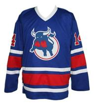 Durbano  14 custom birmingham bulls retro hockey jersey blue   1 thumb200