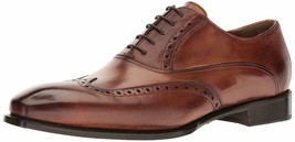 Genuine Brown Tone Wing Tip Leather Burnished Toe Men Handmade Oxford Shoes - $139.90+
