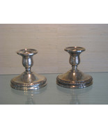 Two International Sterling Silver Prelude N212 Weighted Candle Holders - $125.00