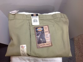 NWT Dickies 874 Flat Front Classic Fit Work Pants Mens 50 X 30 Tan Scotc... - $23.36